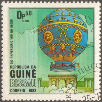 "1983 - Guinea-Bissau ""Balloons"" Postage Stamps"