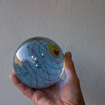 A HUGE Glass Marble  - Art Glass