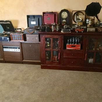 My husbands collection of antiques