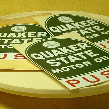 Quaker State door push signs! - Petroliana
