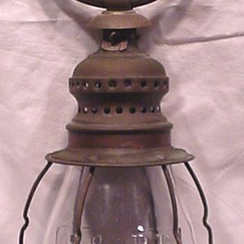 B&O RR fixed globe wristlet lantern - Railroadiana