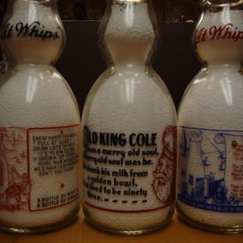 Milk Bottles With Nursery Rhymes.......