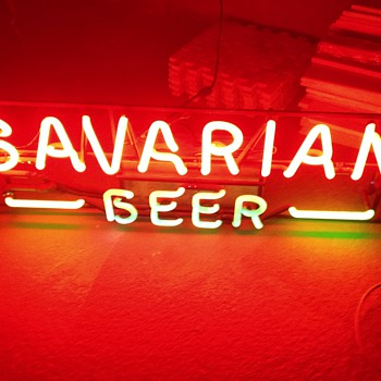 Bavarian Beer neon sign, vintage.  - Breweriana