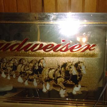 Rare Budweiser mirror