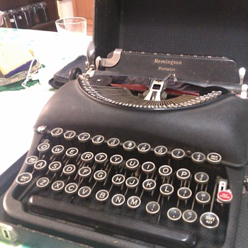My remington portable typewriter, unidentified,  - Office
