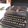 My remington portable typewriter, unidentified, 