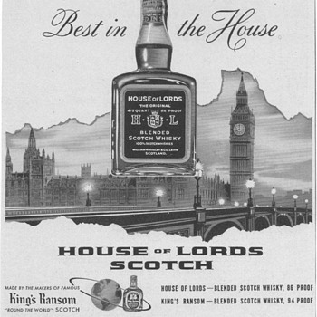 1954 House of Lords Scotch Advertisement