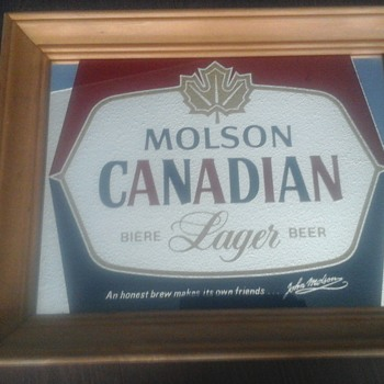 Molson  Bar Mirror  - Advertising