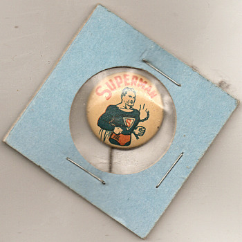 Action Superman Pinback 1939, 1946 the New planes USAA Jets - Medals Pins and Badges