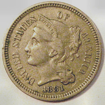 The Second U.S. Three-Cent Pieces Minted - US Coins