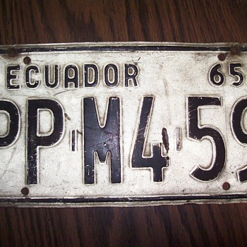 ECUADOR 1965, KANSAS 1941, - Signs