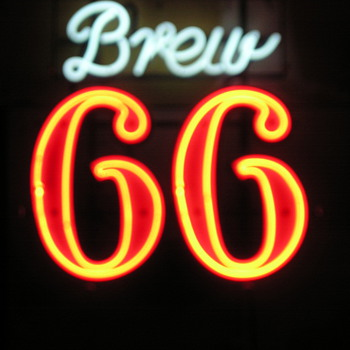 Brew 66  - Sicks' Century Brewery, Seattle Washington Circa 1965 - Signs