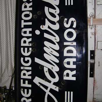 ADMIRAL Radios Refrigerators double-sided Neon Porcelain Enamel Sign