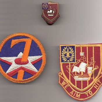 251st Air Defense Artillery and The 7th Air Force Shoulder Patch