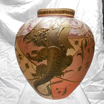 Royal Flemish Vase - Art Glass
