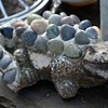 Pebble-encrusted alligator??