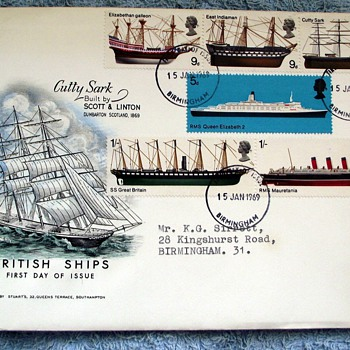1969-post office-first day issue-british ships--15th january 1969. - Stamps