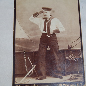 Great- grandpa playing dress-up 1890 - Photographs