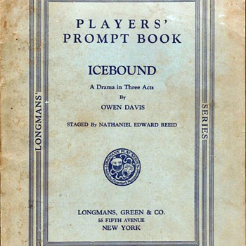 1924 - Theatrical Players&#039; Prompt Book - Books