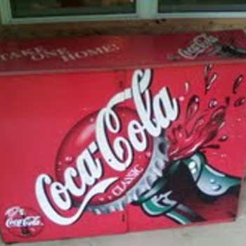 cocacola storage tin - Coca-Cola