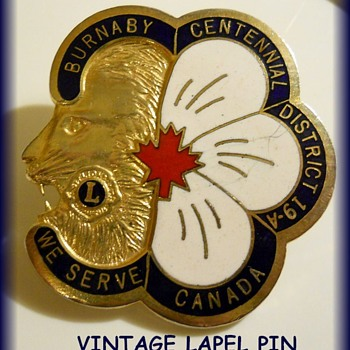 LAPEL PIN - LIONS Club ( Burnaby BC )