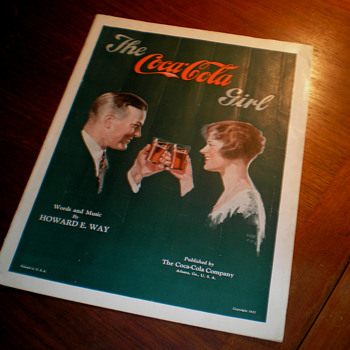 1927 The Coca-Cola Girl Sheet Music - Coca-Cola