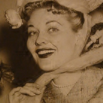 """Lady Of The Hats"" Mid-Century Department Store Photo"
