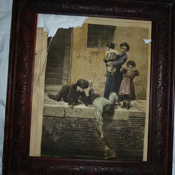 Framed newspaper clipping from 1878 - Paper