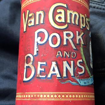 Antique Van Camps Pork and Beans Tin Can