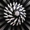Black Hematite Pinwheel design Hematite Brooch