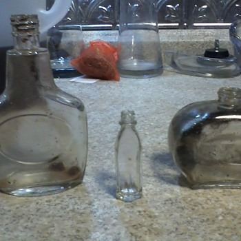 Mystery perfume or cologne bottles