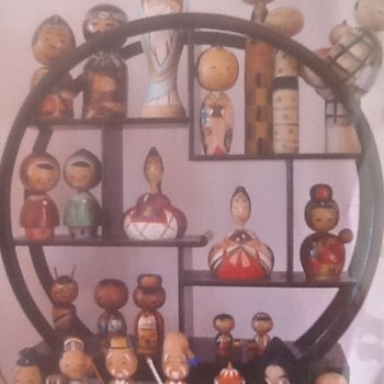 1950s nodder kokeshi collection - Dolls