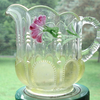 Is this a Fenton pitcher - creamer? - Glassware