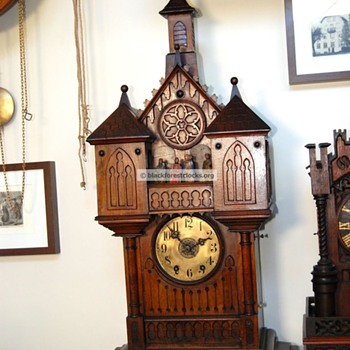 Black Forest Clock with Apostle Automata C. 1890 - Clocks