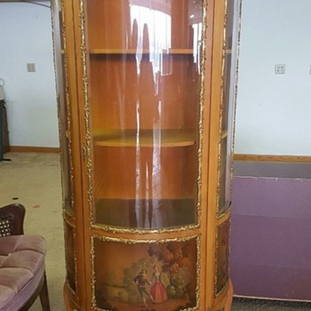 Vernis Martin Vitrine Curio Hand painted and Gilt from Spain