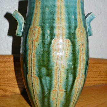 Japanese Mid Century Studio Pottery Vase - Asian