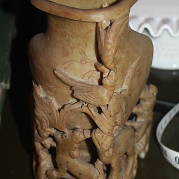 China Carved Animal Vase - Jade ?