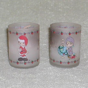 Christmas Glass Tealight Candles - Christmas