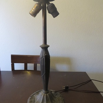 Antique cast bronze? brass? lamp base - Lamps