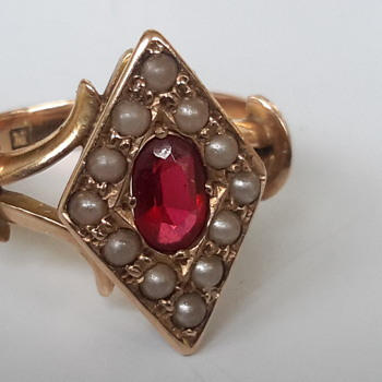 Edwardian 15 ct gold dress ring - Fine Jewelry