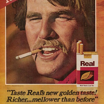 1979 - Real Cigarettes Advertisement - Advertising