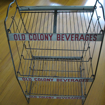 old colony beverage rack - Advertising