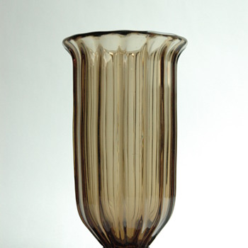 french art deco smoked glass vase by DAUM