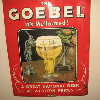 Goebel Beer Sign 1951