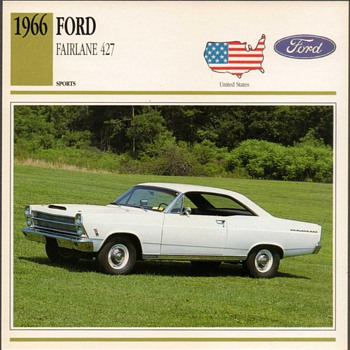 Vintage Car Card - Ford Fairlane