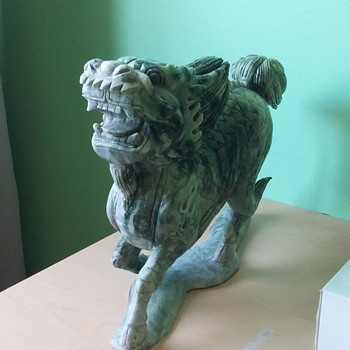 Large Soapstone Dragon Carving