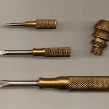 "Brass ""Nesting"" Screwdrivers - Tools and Hardware"