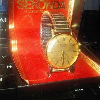 Sekonda Watch complete with box and receipt 1978 - Wristwatches