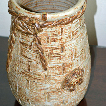 Large Nautical Hand Thrown Vase by Karen Podd.