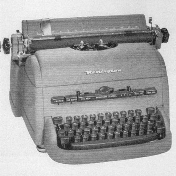 "1953 - Remington ""Execu-type"" Typewriter Advertisements"